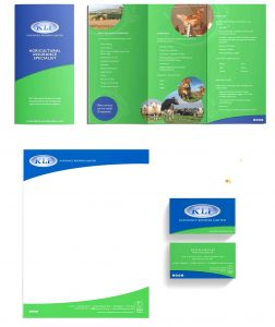 Clare Rowson KLF Insurance Brokers Stationery Design